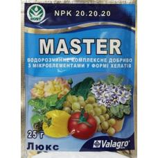 Комплексне добриво Майстер Люкс (NPK 20.20.20), 25г